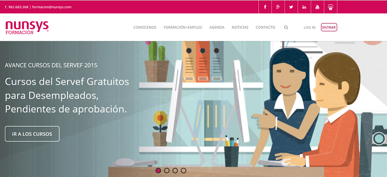 web nunsys formacion1 ¡Conoce la nueva web y redes sociales de Nunsys Formación!
