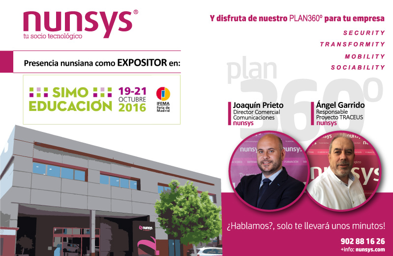 nunsys en simo educacion 2016 Nunsys estará presente en SIMO EDUCACIÓN 2016 (Tecnología para el Sector Educativo)