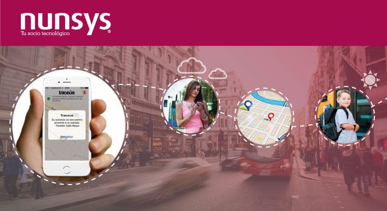 PROPUESTA TECNOLOGIAS traceus ¿Te gustaría conocer en tu móvil, en tiempo real, la ubicación y la hora estimada de llegada del autobús escolar</div><a class=